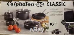 NIB Calphalon Classic Nonstick 10 Piece Cookware Set