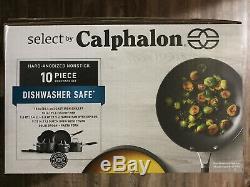 NIB Calphalon Select Hard-Anodized Nonstick 10-Piece Cookware Set