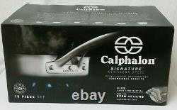 NIB Calphalon Signature Stainless Steel 10 Piece Cookware Set