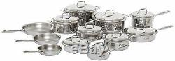 New 360 Cookware 21-Piece Stainless Steel Cookware Set