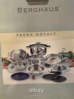 New Berghaus 17 Piece Cookware Set Surgical Stainless Steel Saucepans Pots Pans