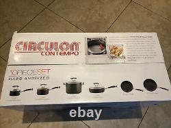 New Circulon Contempo Hard Anodized Nonstick 10-piece Cookware Set (black)