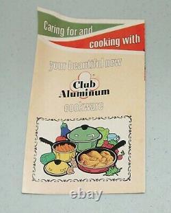 New! NOS! Vtg 10- Piece CLUB ALUMINUM Avocado Waterless Cookware Set TEFLON II
