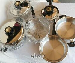 New Old Stock Kitchen Craft by West Bend (9) Piece Cookware set USA Very Nice