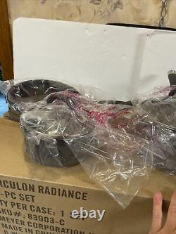 New Open Box Circulon Radiance 10-piece Hard Anodized Cookware Set, Black/Gray