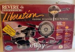 New Rare Vintage Revere Ware Liberation Set NOS Non Stick 11 Piece Christmas