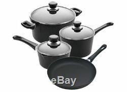 New Scanpan Classic Cookware Set 4 Piece Black Non Stick Kitchenware Cookware