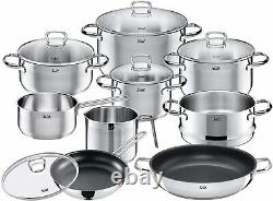 New WMF SILIT Toskana 10 piece Cookware pan pot set with glass lid rrp£300