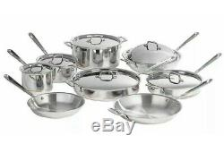 New in Box All-Clad Copper Core 14-piece Cookware Set 14pc ALL CLAD 60090