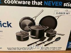 Ninja C19600 Foodi Neverstick Cookware Set 11 Piece, Guaranteed To Never Stick