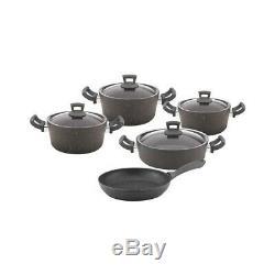 Non-Stick Granite 9 Pieces Cookware Set, PFOA Free
