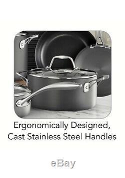 Nonstick 15-Piece Cookware Set by Tramontina Kitchen Pots Pans Cooking Pan