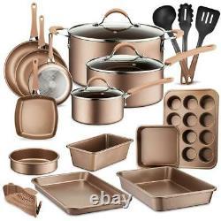 Nutrichef NCCW20S High qualified Basic Kitchen Cookware Set, Non-Stick 20-Piece