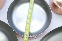Paul Revere Signature Collection 7 Piece Solid Copper Cookware Set Pot Pan Lids