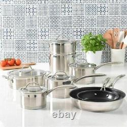 ProCook Professional Stainless Steel Cookware Set 8 Piece Induction Pans