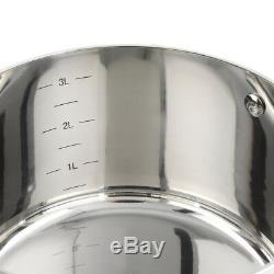 ProCook Tri-Ply Induction Cookware Set Stainless Steel 3 Ply Pots Pans 4 Piece