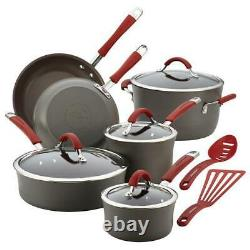 Rachael Ray 87630 Cucina Hard-Anodized Nonstick 12-Piece Cookware Set Gray Wi