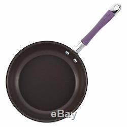 Rachael Ray Cucina Hard Porcelain Enamel Nonstick Cookware Set, 12-Piece, Lavend