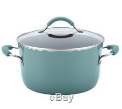 Rachel Ray New Hard Porcelain Enamel Nonstick Cookware Set 12 Piece Agave Blue