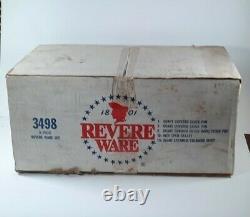 Revere Ware 8 Piece Set. Open Box NOS. Copper Bottom. RARE FIND! USA MADE