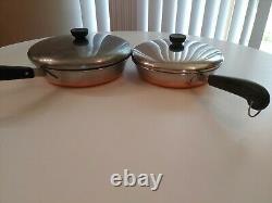 Revere Ware Copper Bottom 16 Piece Set Vintage Pots & Pans Cookware