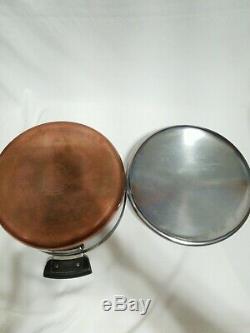 Revere Ware Copper Bottom Pots and Pans Set 11 pieces 12qt, Skillet, Stock Pot