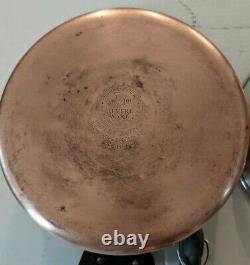 Revere Ware Copper Clad Bottom 12 Piece Set Pots Pans Lids Made In USA