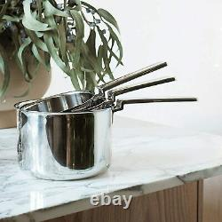 Robert Welch Campden Cookware 3 Piece Saucepan Set Includes 1.38L, 2.2L and 3.2L