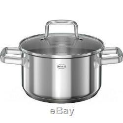 Rösle Profi Stainless Steel Pot Set Induction Cookware Set 5 Pieces Non-stick