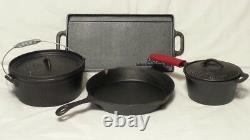Royal Dutch Cast Iron cookware set 7 pieces