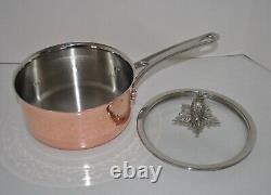 Ruffoni Omegna Cupra Hammered Copper 10 Piece Cookware Set Open Box