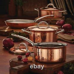 Ruffoni Symphonia Cupra Hand-Hammered 7-piece Copper Clad Cookware Set