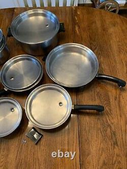 SALADMASTER T304S Stainless Steel Cookware Set + Electric Skillet 14 Pieces