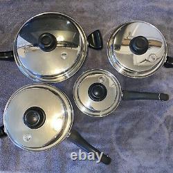 Saladmaster Cookware 9 Piece Set Pots Pans Lids Double Boiler TP304-316 System 7