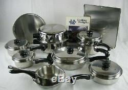 Saladmaster TP304S Five Star Stainless Steel 13 Piece Cookware Set + 3 Bonus