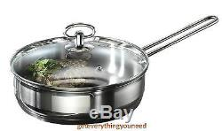 Satin Stripes Home Cookware Set Saucepan Sets Pots and Pans Induction 20 Piece