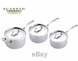 Scanpan Fusion 5 Saucepan Set 3 Piece. BARGAIN