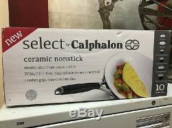 Select By Calphalon Ceramic Nonstick 10 Piece Cookware Set Brand New
