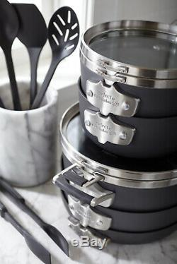 Select By Calphalon Space Saving 5-14 Piece Nonstick Cookware And Utensil Set