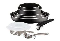 Set de poêles et casseroles TEFAL- Ingenio 5 Essential Noir 10 Pièces