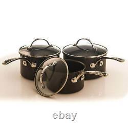 Stoven Hard Anodised 5 Piece Cookware Set