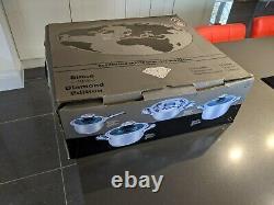 Swiss AMC 12 piece diamond edition Cookware set