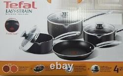 TEFAL Easy-Strain Non-Stick Cookware 4 piece/set Saucepan with Lids