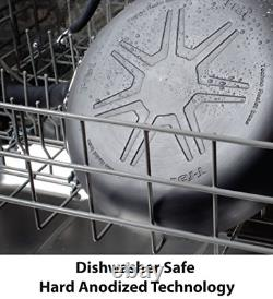 T-fal E918SE Ultimate Hard Anodized Nonstick 14 Piece Cookware Set, Dishwasher