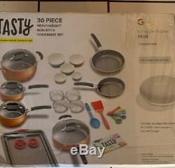 Tasty 30 Piece Non-Stick Cookware Set + Google Home Mini Copper New In A Box
