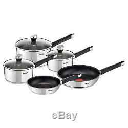 Tefal Emotion Stainless Steel 5 Piece Pan Set, Induction Compatible, NEW, BOXED