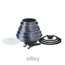 Tefal Ingenio Elegance 13-Piece Complete Cookware Set Grey