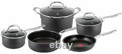 Tefal Jamie Oliver 5 Piece Premium Hard Anodised Induction Cookware Set Black