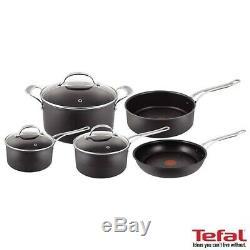 Tefal Jamie Oliver Hard Anodised Premium 5 Piece Cookware Set in black, BRAND