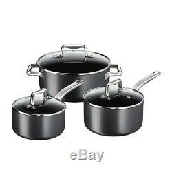 Tefal ProGrade 5 Piece Induction Cookware Set Non-Stick Saucepans Frypans